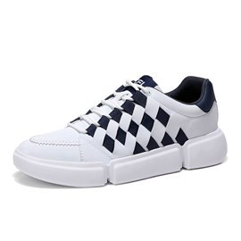 Ericdress Low-Cut Upper Patchwork Lace-Up Men's Skate Shoes