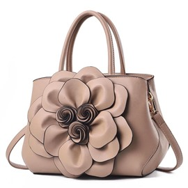 Ericdress PU Floral Thread Barrel-Shaped Tote Bags