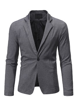 Ericdress Plain One Button Mens leisure Blazer Jacket