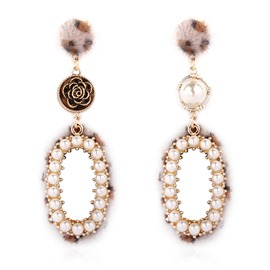 Ericdress Retro Rose Alloy E-Plating Party Earrings