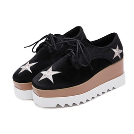 Ericdress Platform Lace-Up Square Toe Women's Shoes