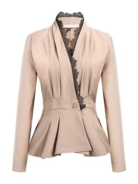 Ericdress One Button Plain V-Neck Regular Standard Casual Blazer