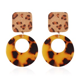 Ericdress Plastic Geometric Leopard Print Earrings