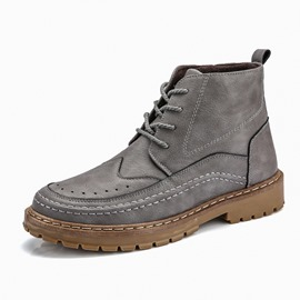 Ericdress Plain Round Toe Men's Winter Boots