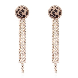 Ericdress European Leopard Diamante Earrings