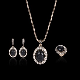 Ericdress European Black Gems Jewelry Sets