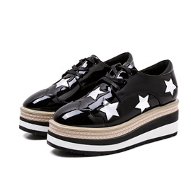 Ericdress Platform Low-Cut Upper Lace-Up Star Women's Shoes