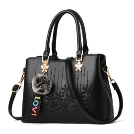 Ericdress Embroidery PU Floral Square Tote Bags