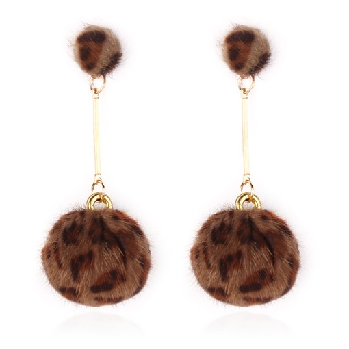 Ericdress Leopard Print Ball Earrings