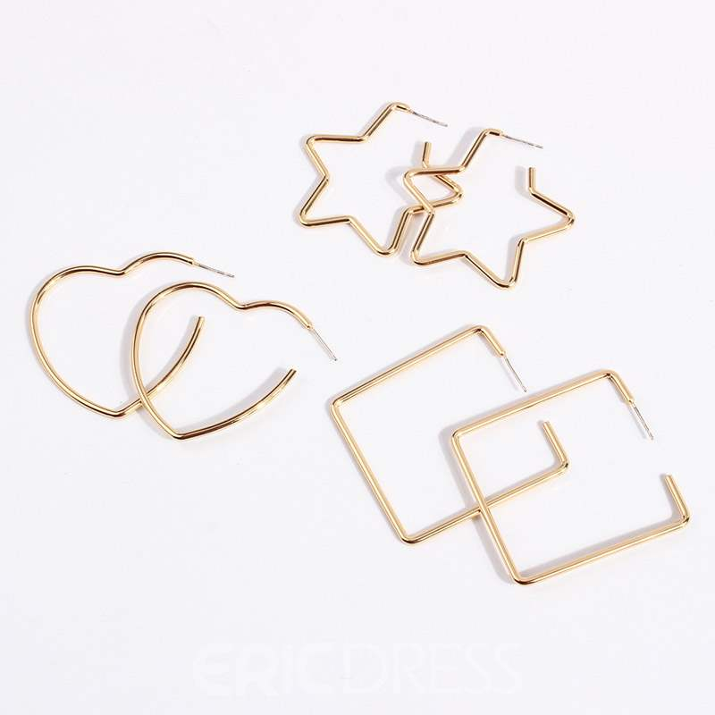 Ericdress Korean Alloy Hollow Out Earrings