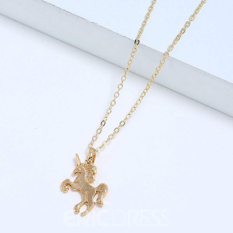 Ericdress E-Plating Unicorn Female Necklaces
