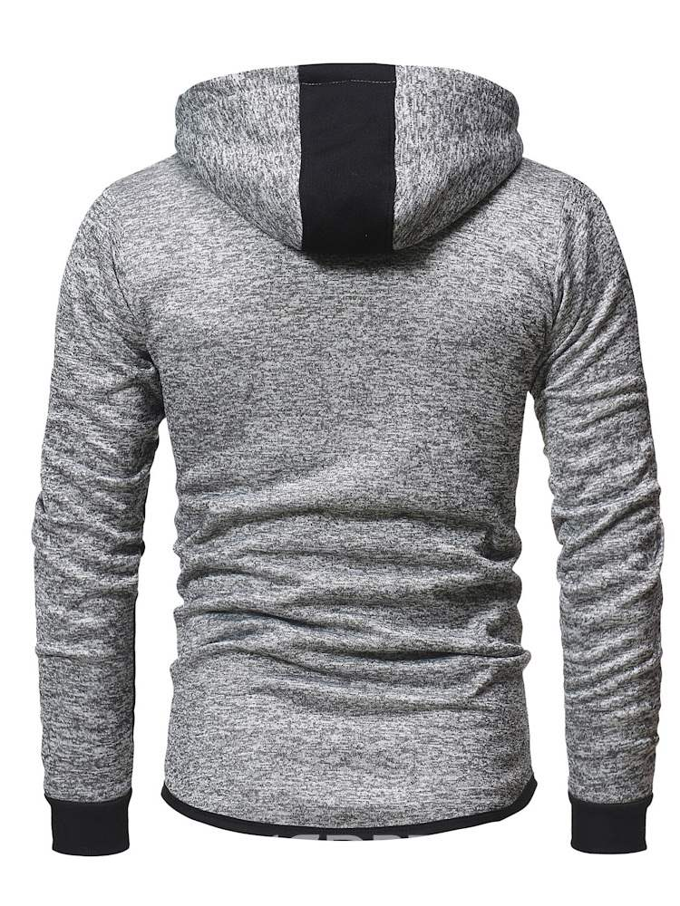 Ericdress Patchwork Hooded Zipper Mens Cardigan Sports Hoodies