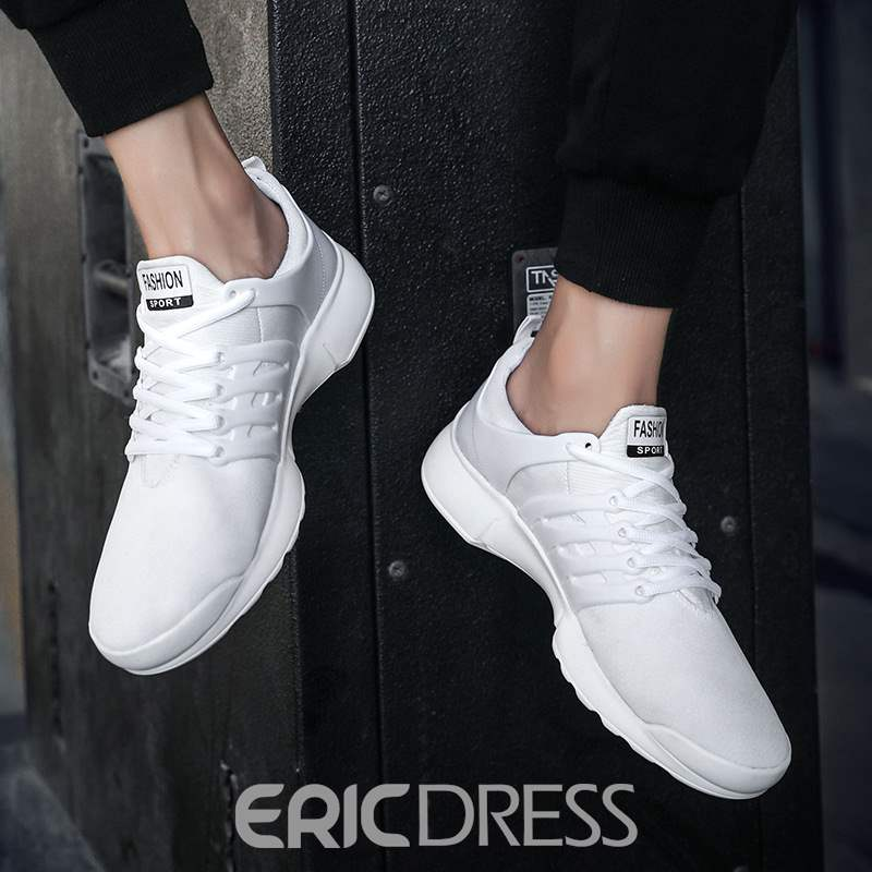 Ericdress PU Low-Cut Upper Lace-Up Men's Sneakers