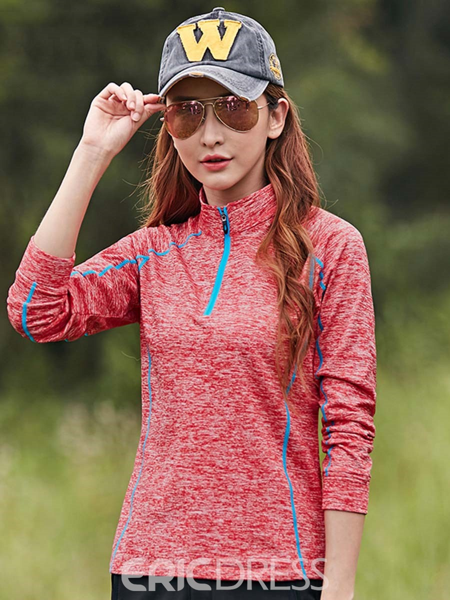Ericdress Women Easy-Care Finish Stripe Anti-Sweat Pullover Sports Tops