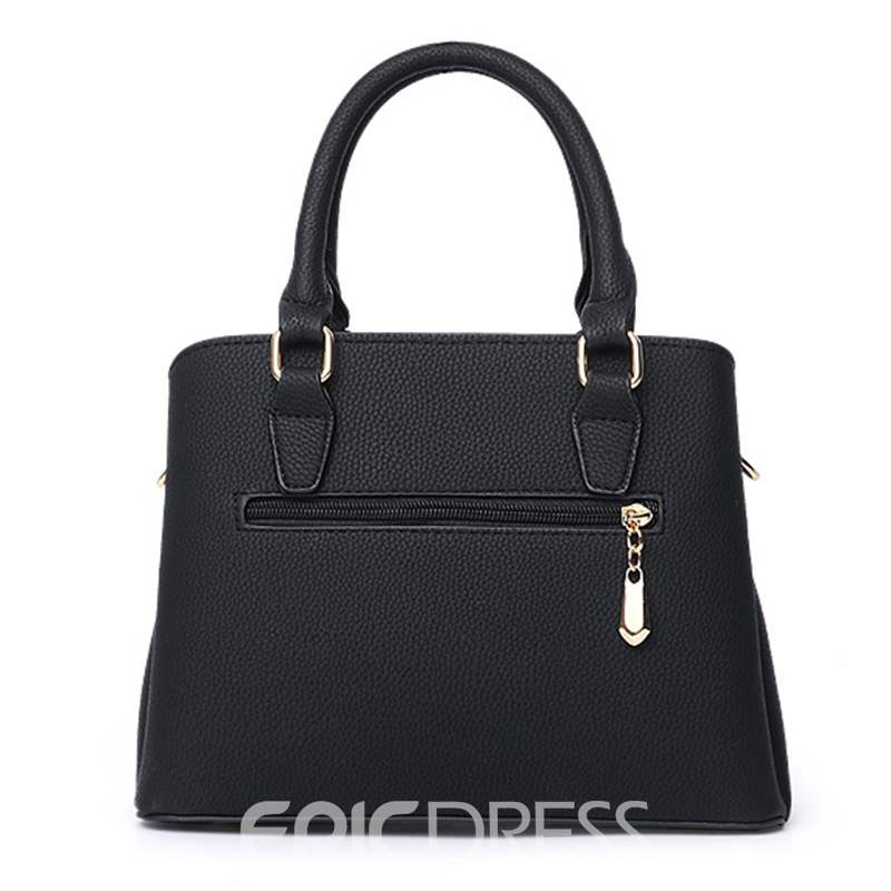 Ericdress Embossing Plain PU Square Tote Bags