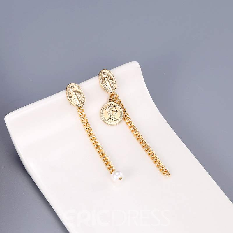 Ericdress Portrait Beads Earrings