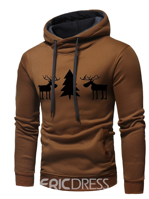 Ericdress Printed Hooded Mens Casual Christmas Hoodies