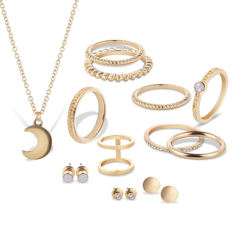 EricdressTwists Diamante Jewelry Sets