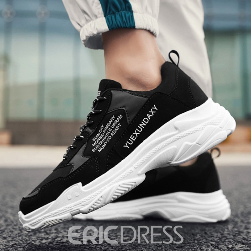 Ericdress Patchwork Lace-Up Low-Cut Upper Men's Sneakers