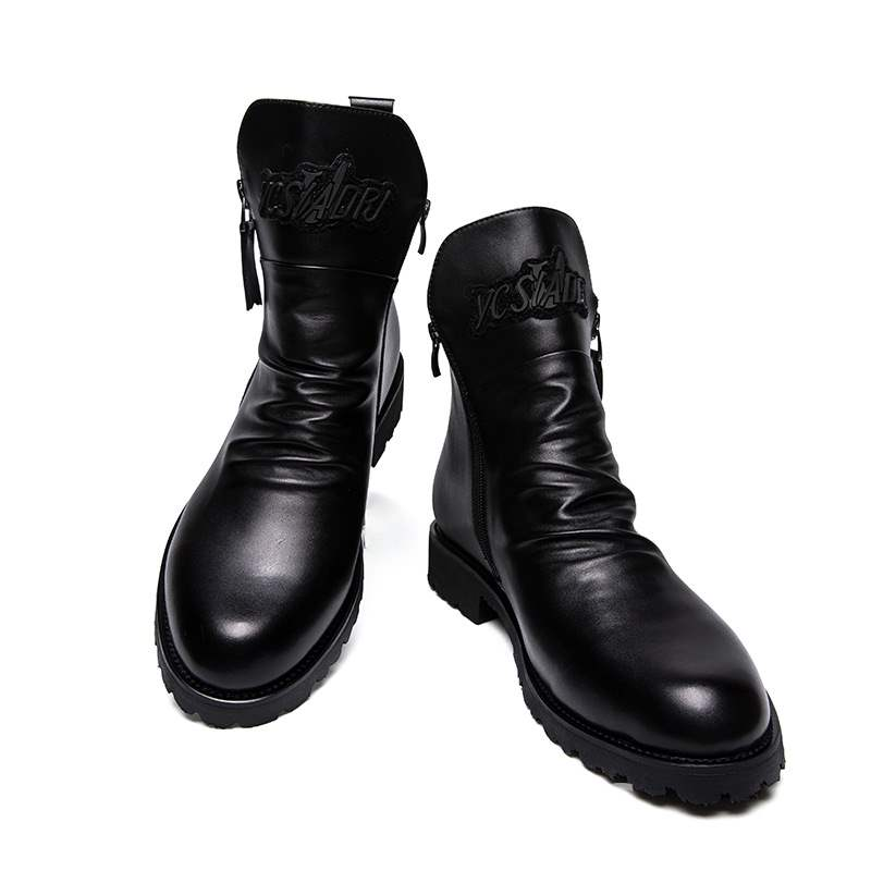 Ericdress Plain Round Toe Men's Boots