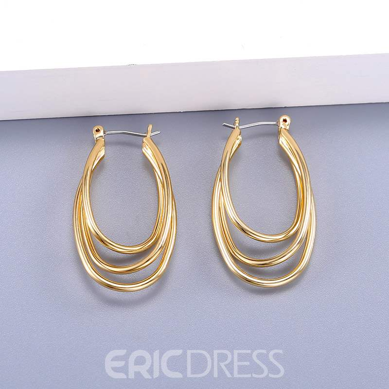 Ericdress E-Plating Alloy Silver Ring Earrings