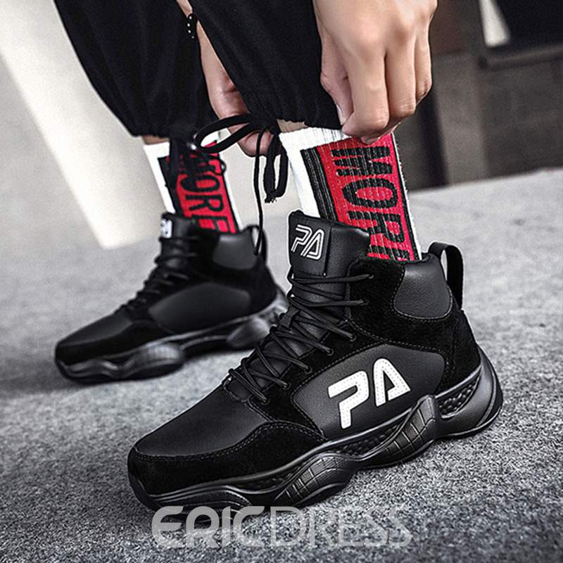 Ericdress PU High-Cut Upper Lace-Up Men's Athletic Shoes