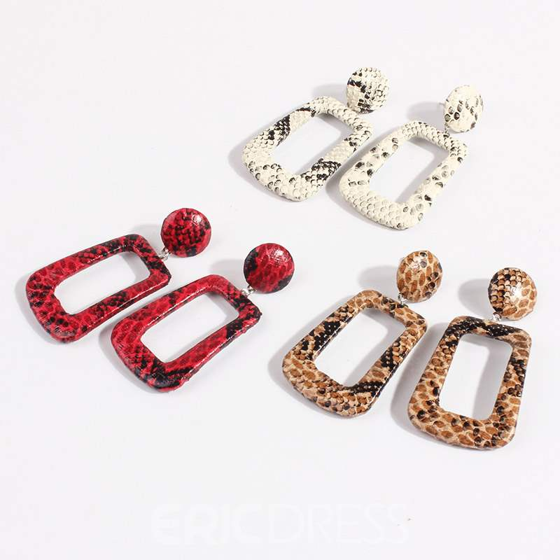 Ericdress Geometric Alloy Hollow Out Earrings