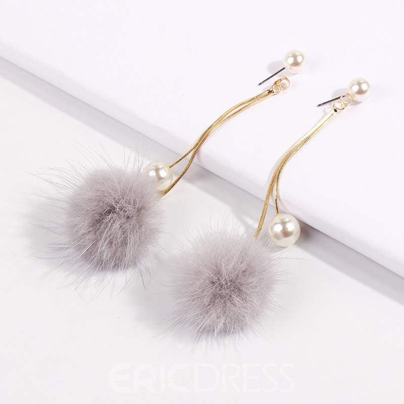 Ericdress Alloy Korean Ball Earrings