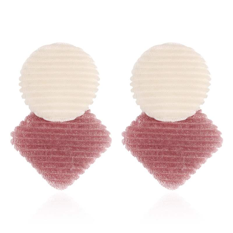 Ericdress Geometric Velvet Engagement Earrings