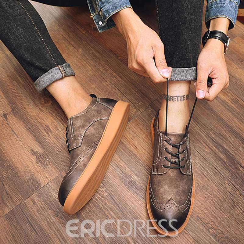Ericdress Low-Cut Upper Lace-Up Men's Shoes