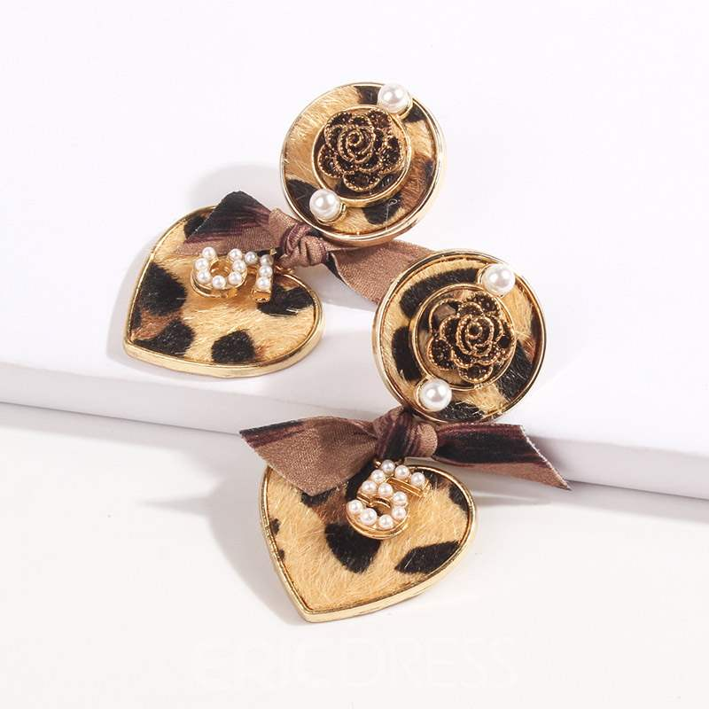Ericdress Retro Leopard Print Rose Party Earrings