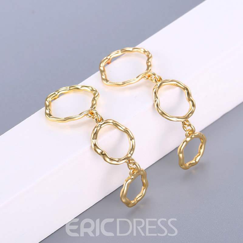 Ericdress Alloy E-Plating Loop Earrings