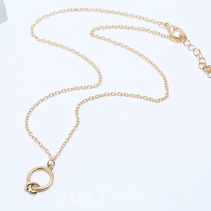 Ericdress Pendant Necklace E-Plating Knot Necklaces