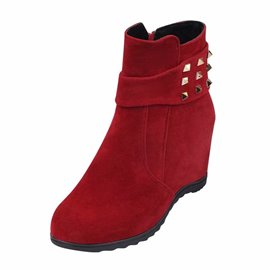 Ericdress Rivet Hidden Elevator Heel Women's Boots
