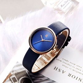 Ericdress Quartz Round PU Belt Watch