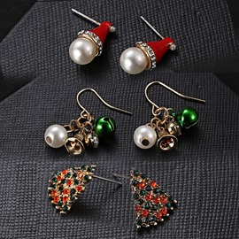 Ericdress Alloy Christmas Earrings