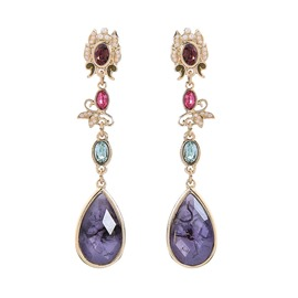 Ericdress Diamante Water Drop Retro Earrings