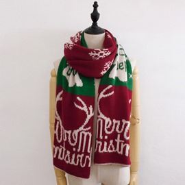 Ericdress Christmas Woolen Cartoon Scarf