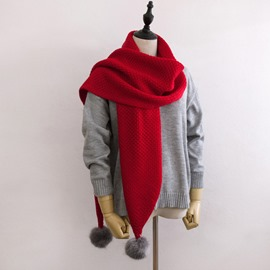 Ericdress Warm Woolen Pure Colour Scarf