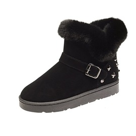 Ericdress Rivet Platform Round Toe Slip-On Women's Snow Boots