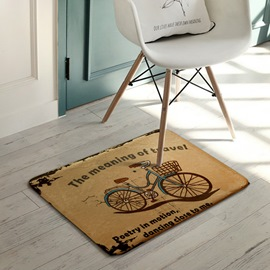 Ericdress Cartoon Bicycle Non Slip Bath Mat For Bathroom Carpet Rugs