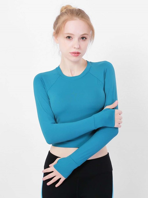 Ericdress Anti-Sweat Solid Sports Tops