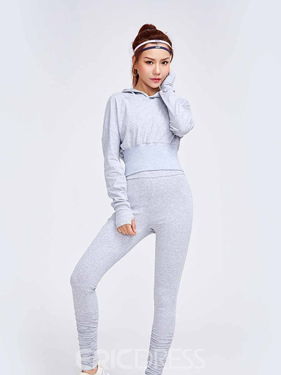 Ericdress Hooded Cotton Leggings Long Sleeve Volleyball Sports Sets