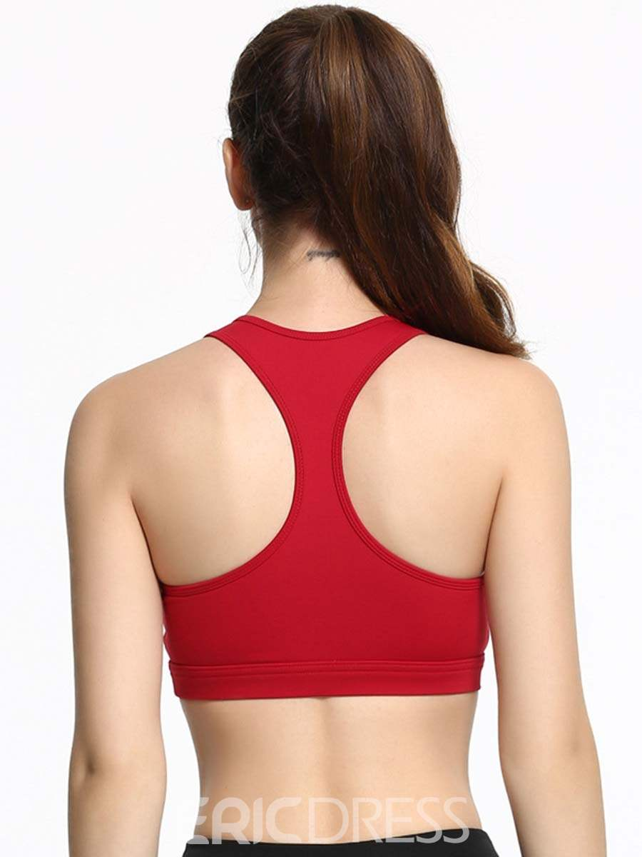 Ericdress Plain Preventing Accidental Exposure I-Shaped Sports Bras