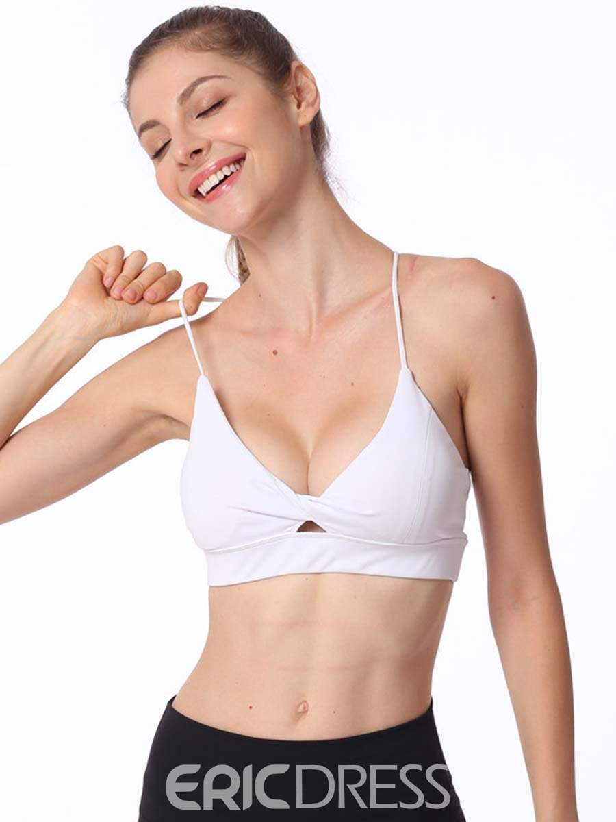 Ericdress Push Up Plain Non-Adjusted Straps Sports Bras