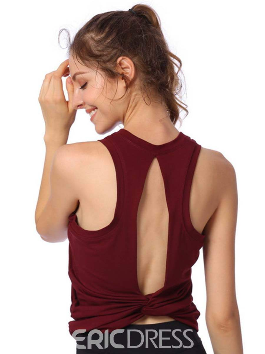 Ericdress Solid Anti-Sweat Back Hollow Pullover Tops