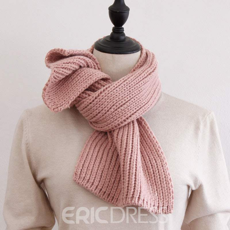 Ericdress Ladylike Woolen Pure Colour Scarf