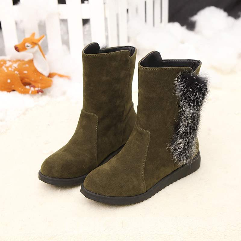 Ericdress Plain Slip-On Round Toe Women's Winter Boots