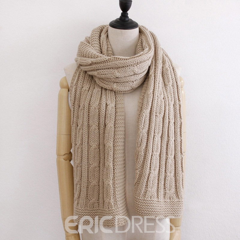 Ericdress Woolen Pure Colour Scarf