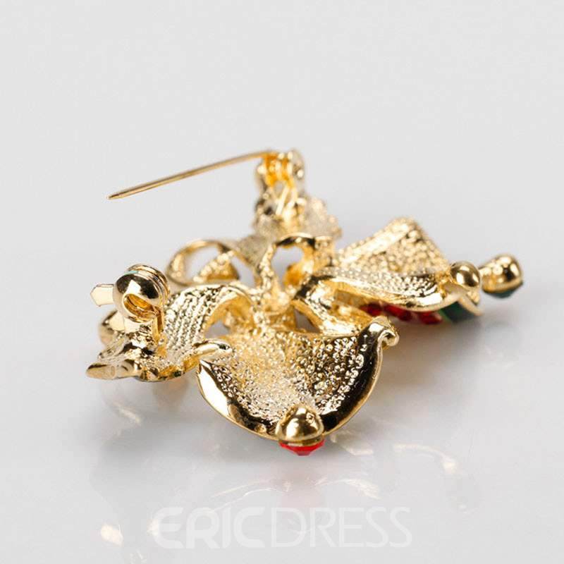 Ericdress Christmas Bell Brooch